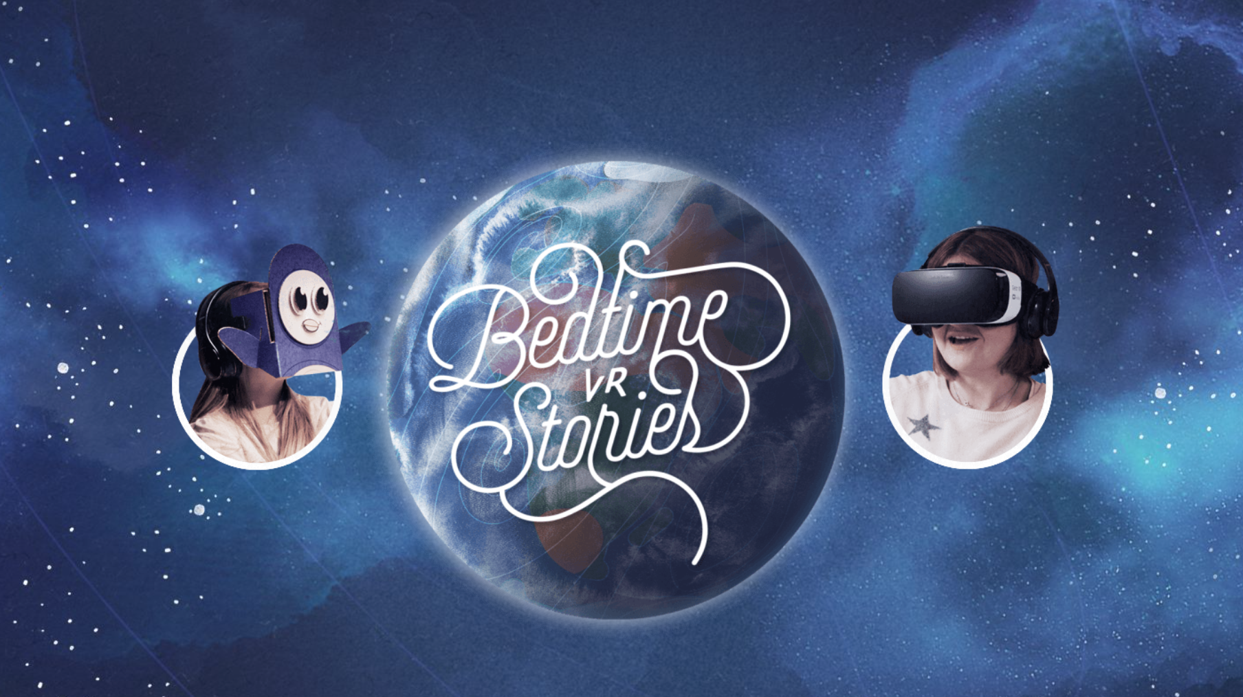 Samsung bedtime stories app virtual reality kids